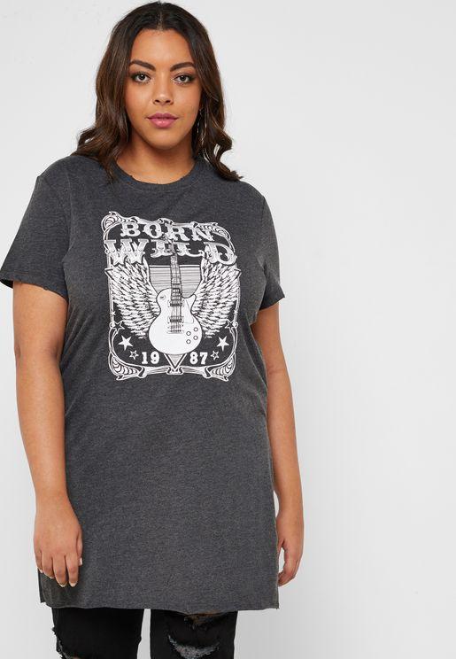 Slogan Longline T-Shirt
