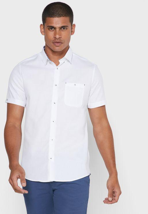 Pocket Detail Slim Fit Shirt