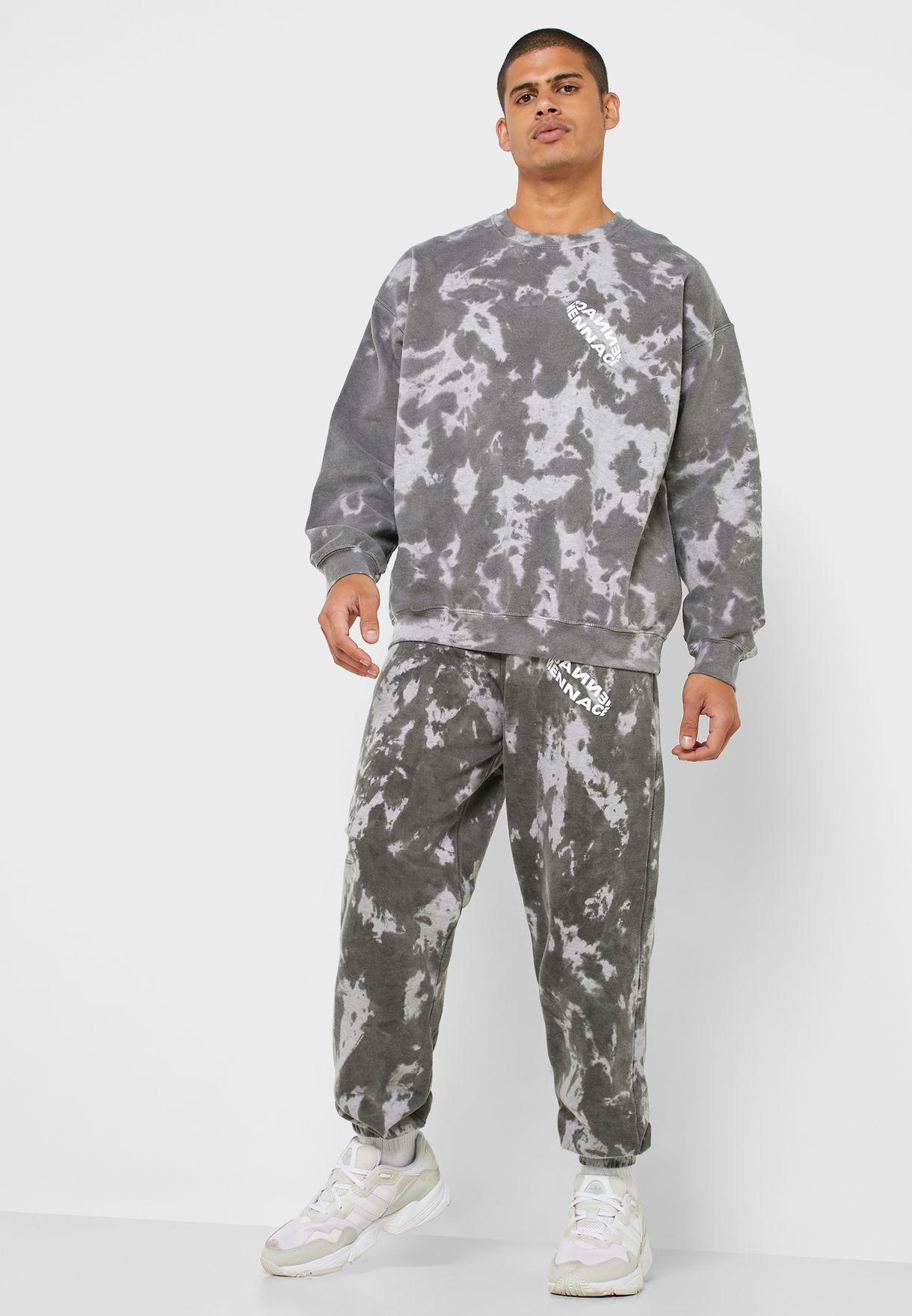 Back Print Tie Dye Sweatshirt