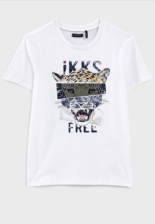 Kids Leopard Graphic T-Shirt