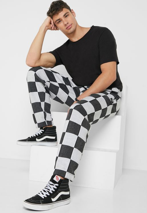 Checker Jacquard Sweatpants