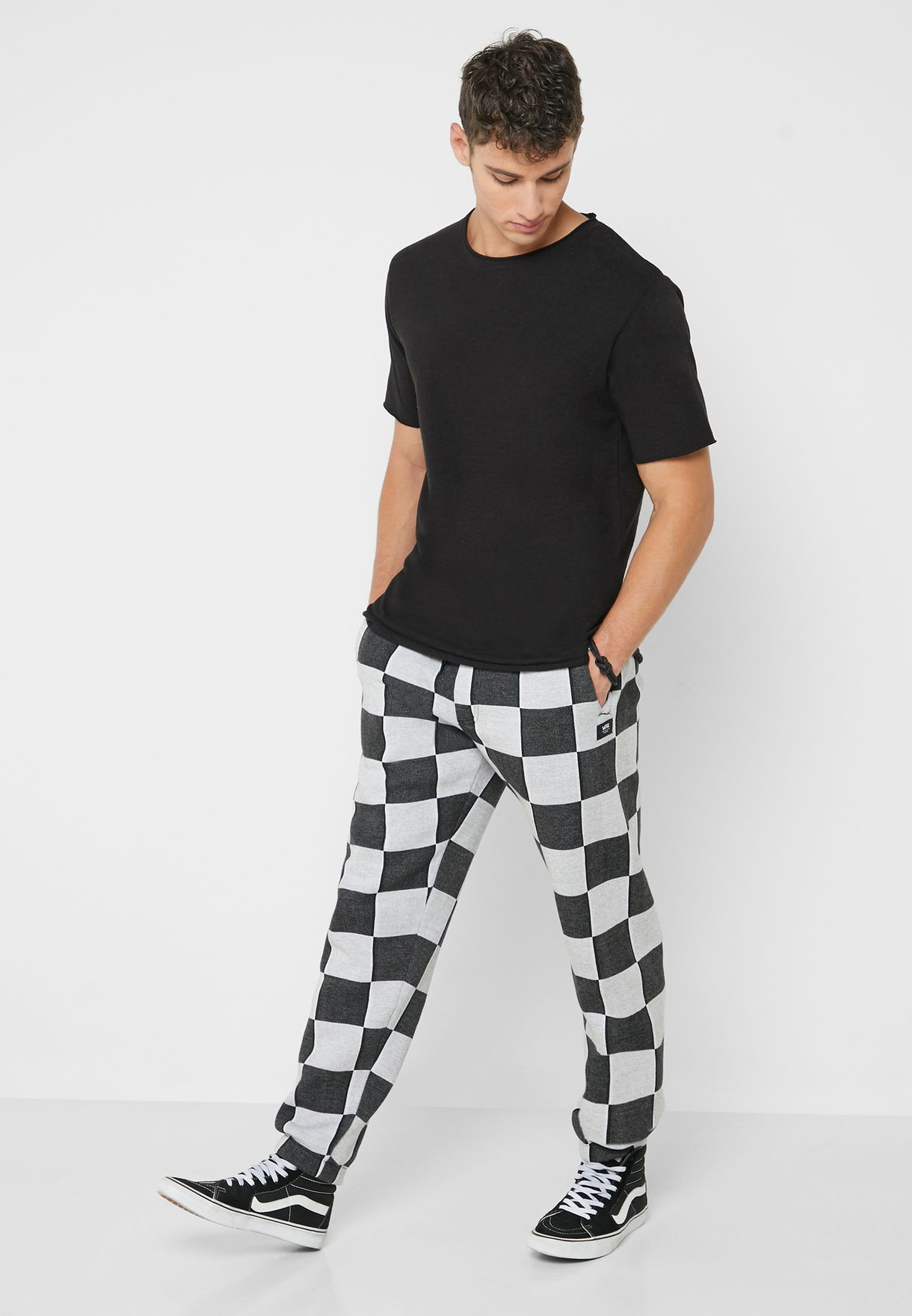 Checker Jacquard Sweatpants