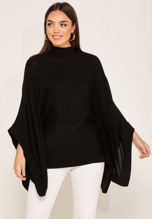 Lolita High Roll Neck Wide Sleeve Sweater