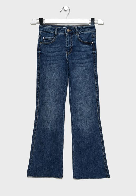 Kids Mid Wash Jeans