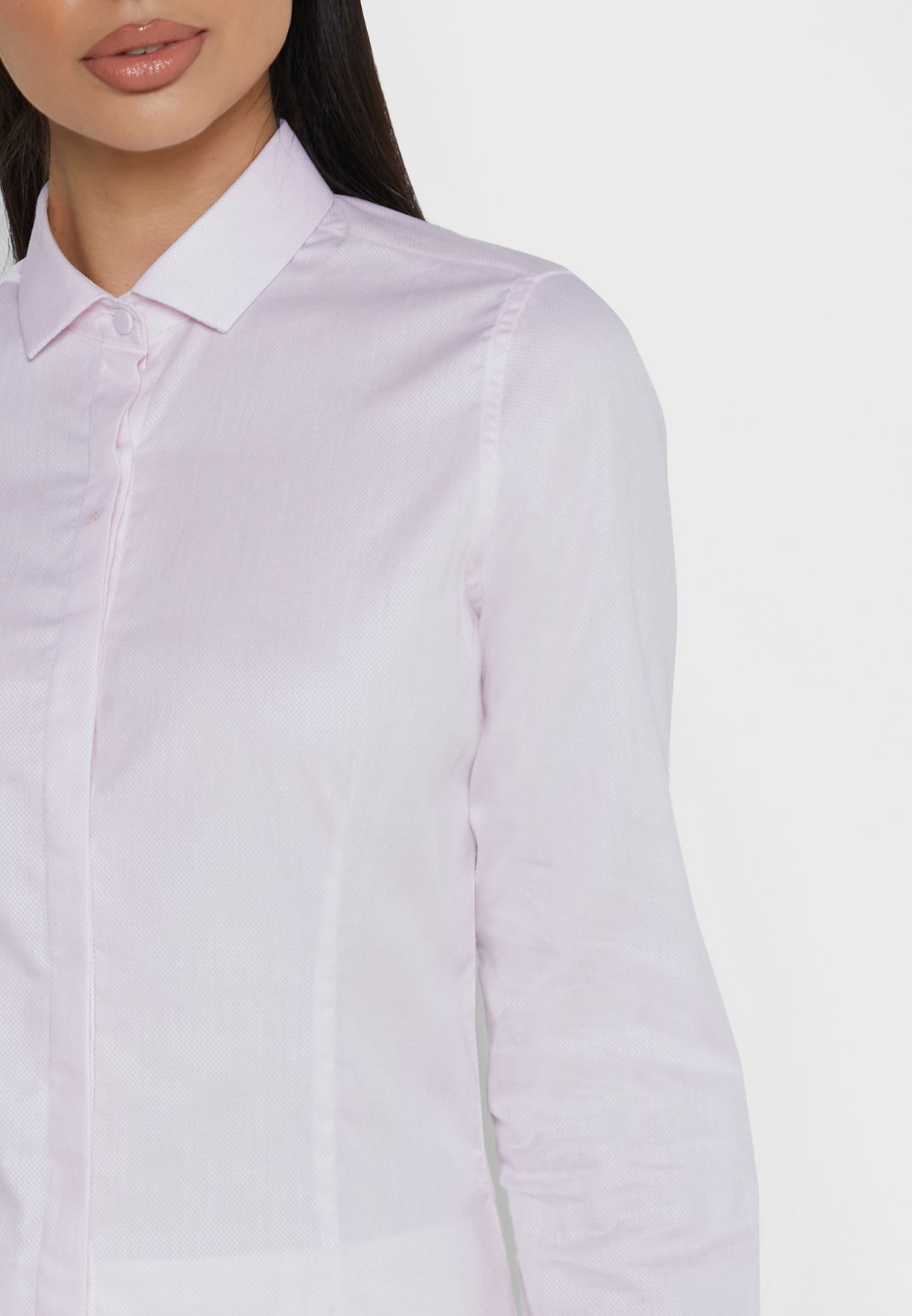 Embroidered Cuff Shirt
