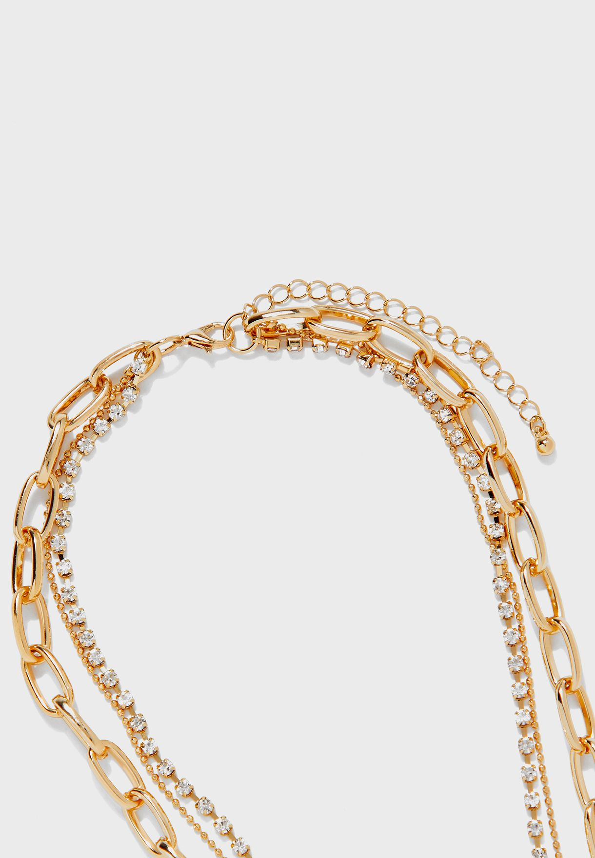 Chunky Chain Layered Necklace Set