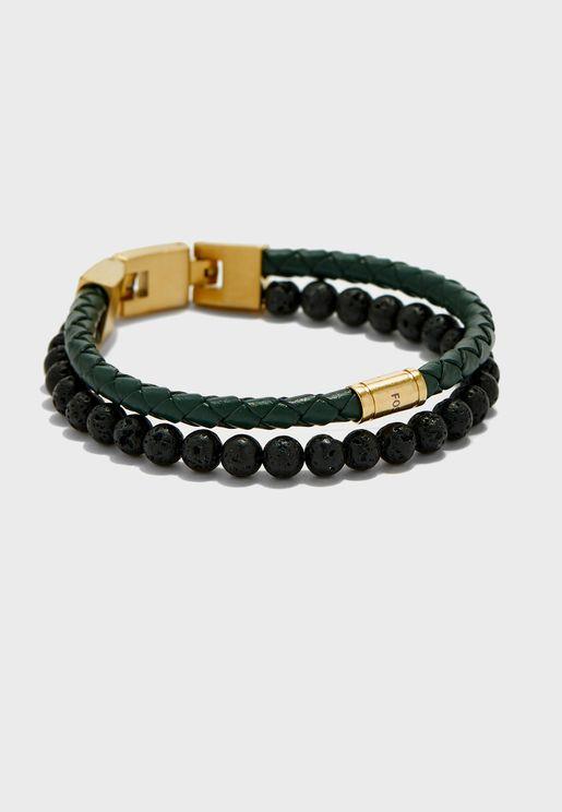 Duo Lava Stone Bracelet