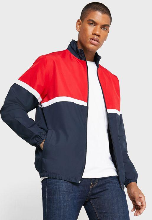 Colour Block Wind Breaker Jacket