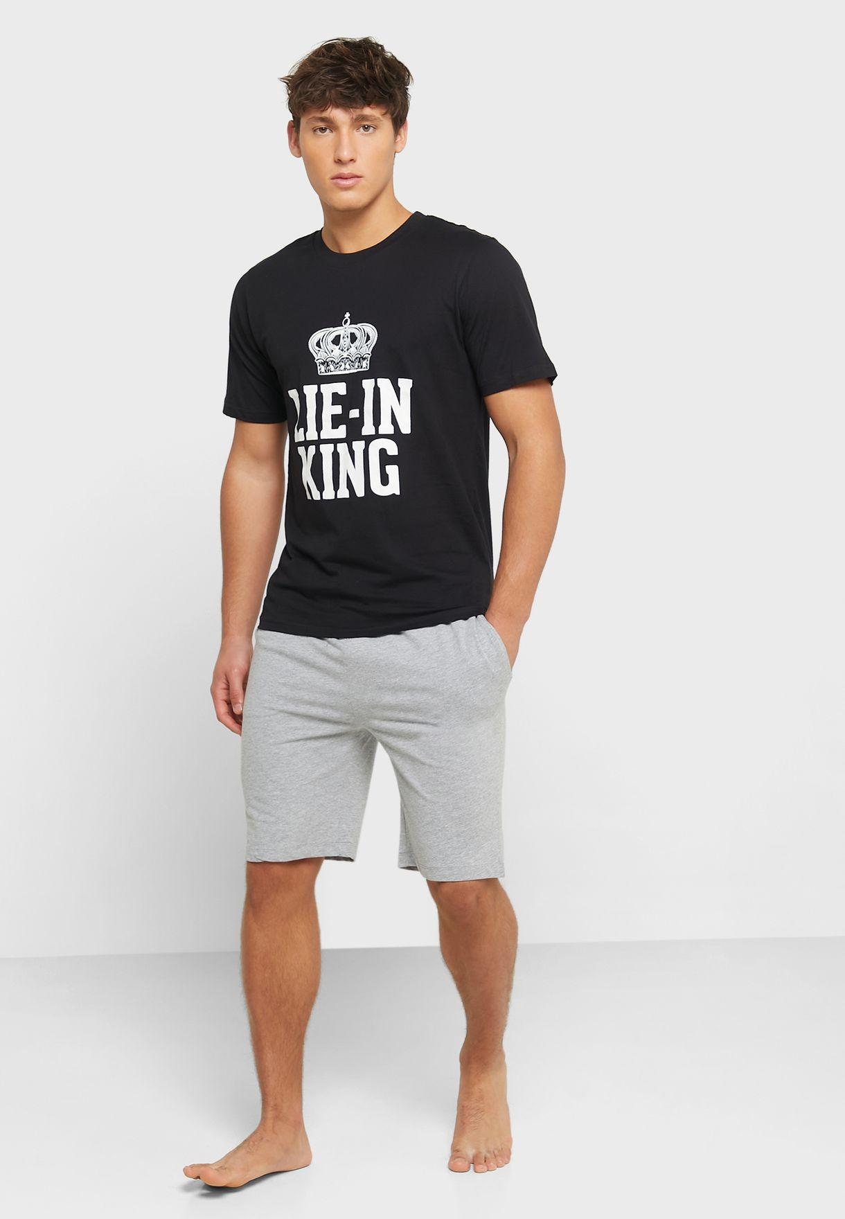 Lie-In King Pyjama Shorts Set