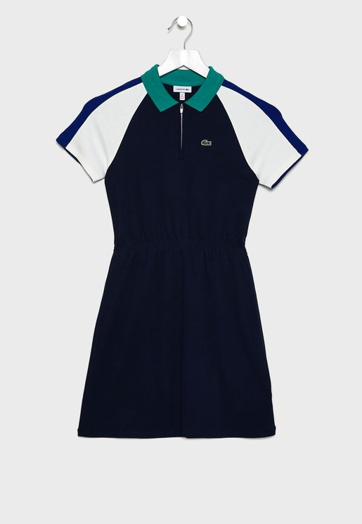Kids Belted Pleated Dress