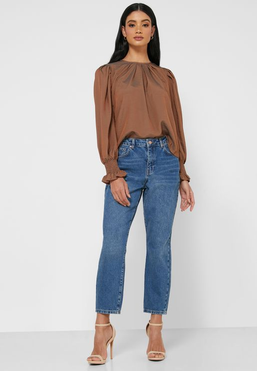 Isabel High Waist Mom Fit Jeans