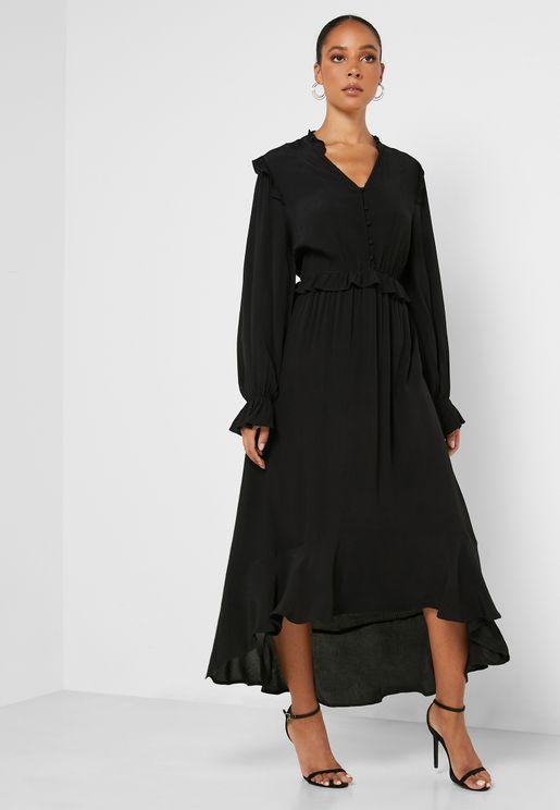فستان متباين الطول