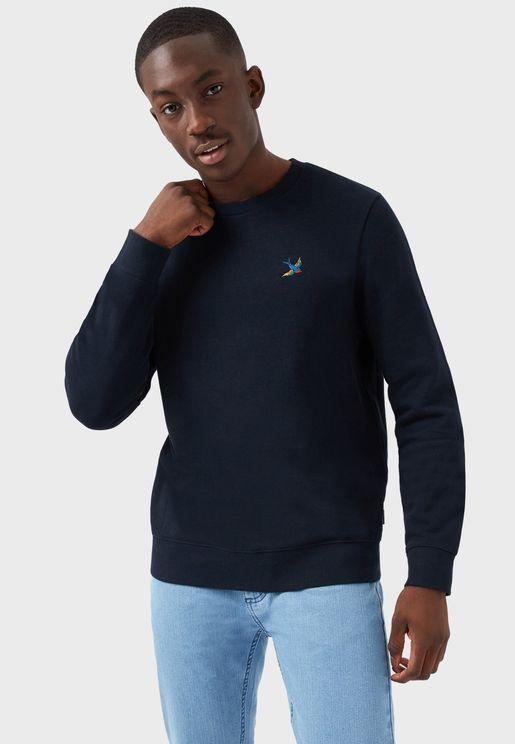 Swallow Embroidered Sweatshirt