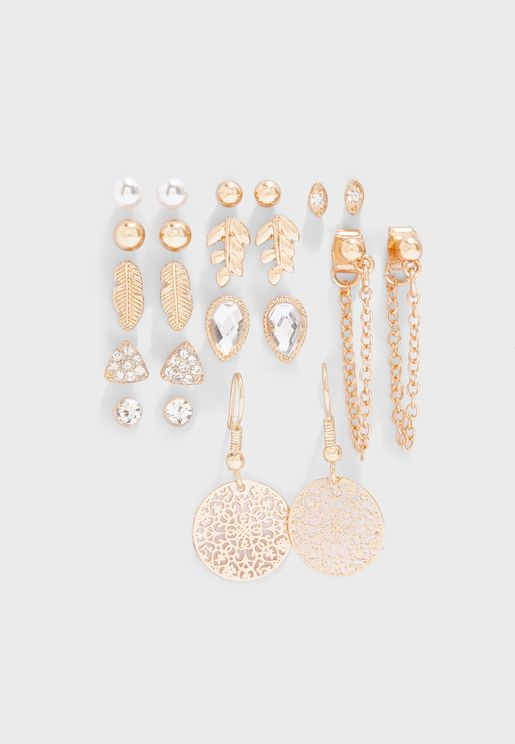 Multipack Gold Set Earrings