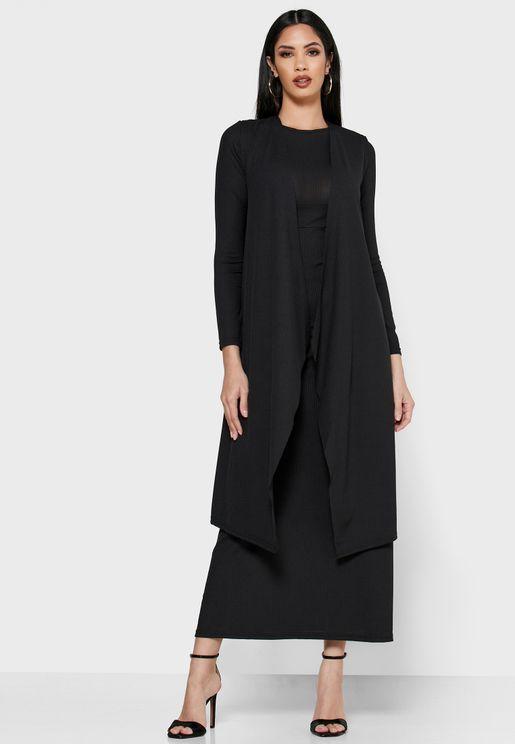فستان ماكسي مع كيمونو