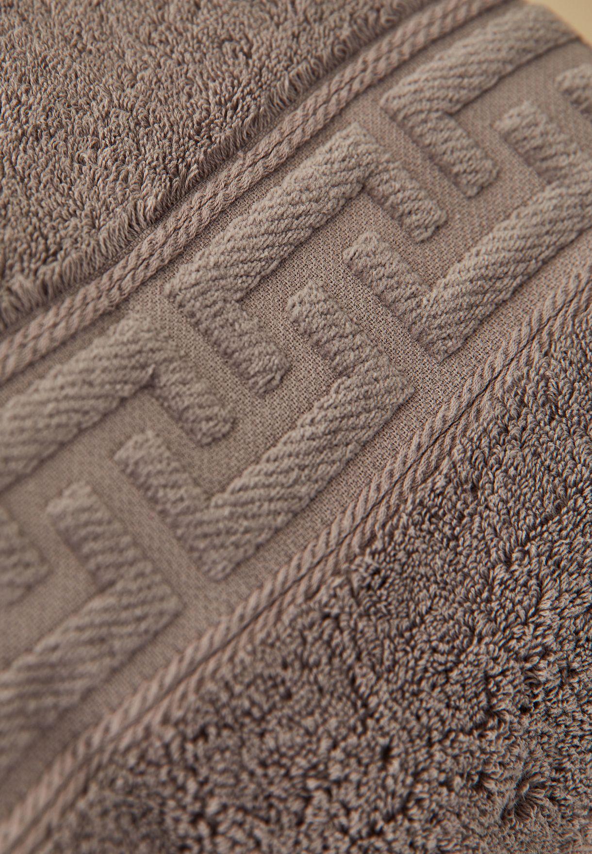 منشفة حمام بلون رمادي 80× 160 سم