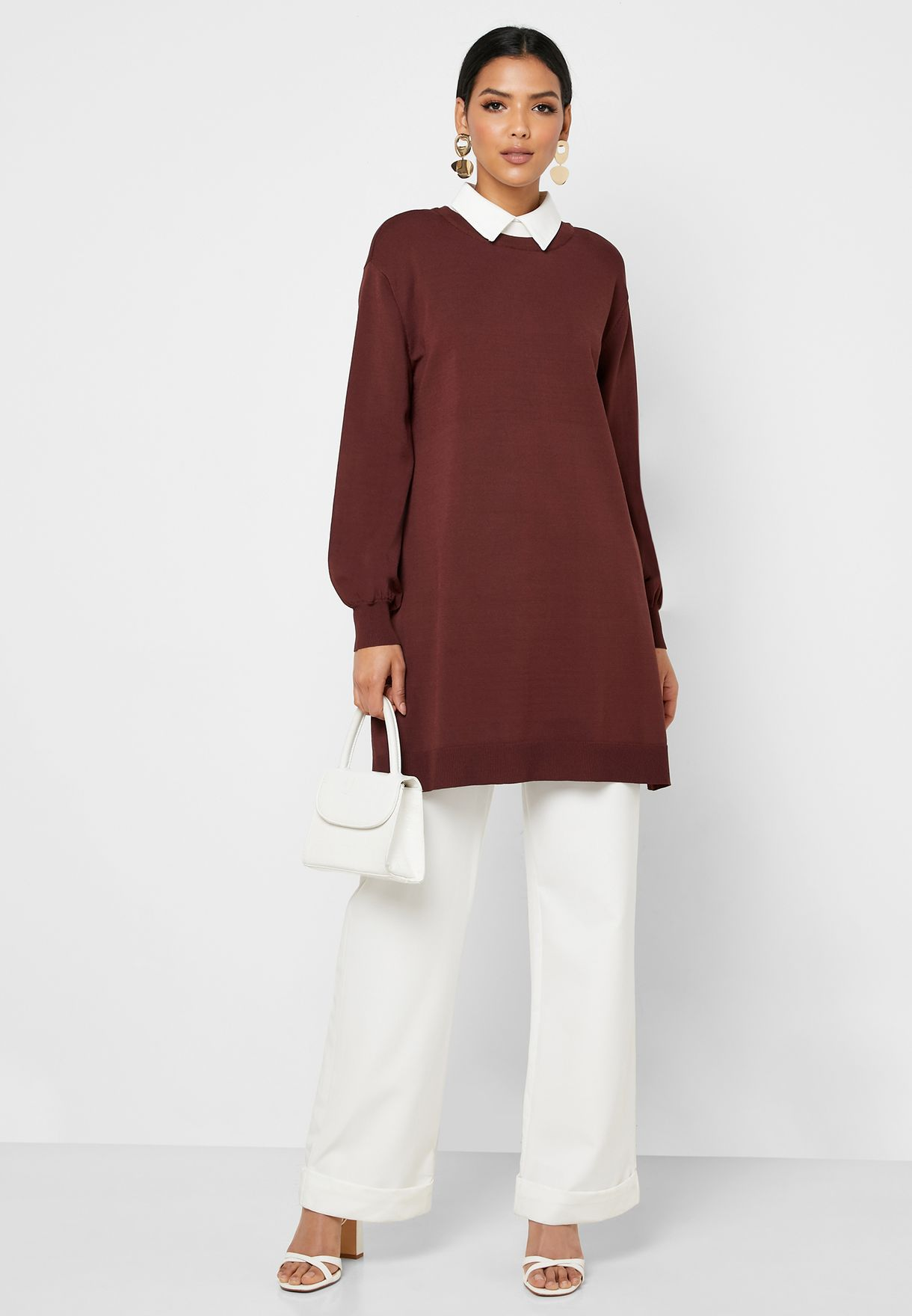 Colorblock Longline Sweater