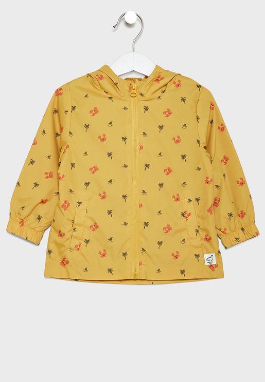 Infant Palm Tree Print Jacket