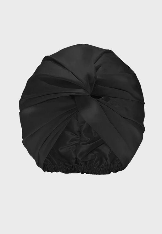 توربان من الحرير الخالص - أسود