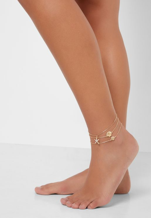 Charms Anklet Set