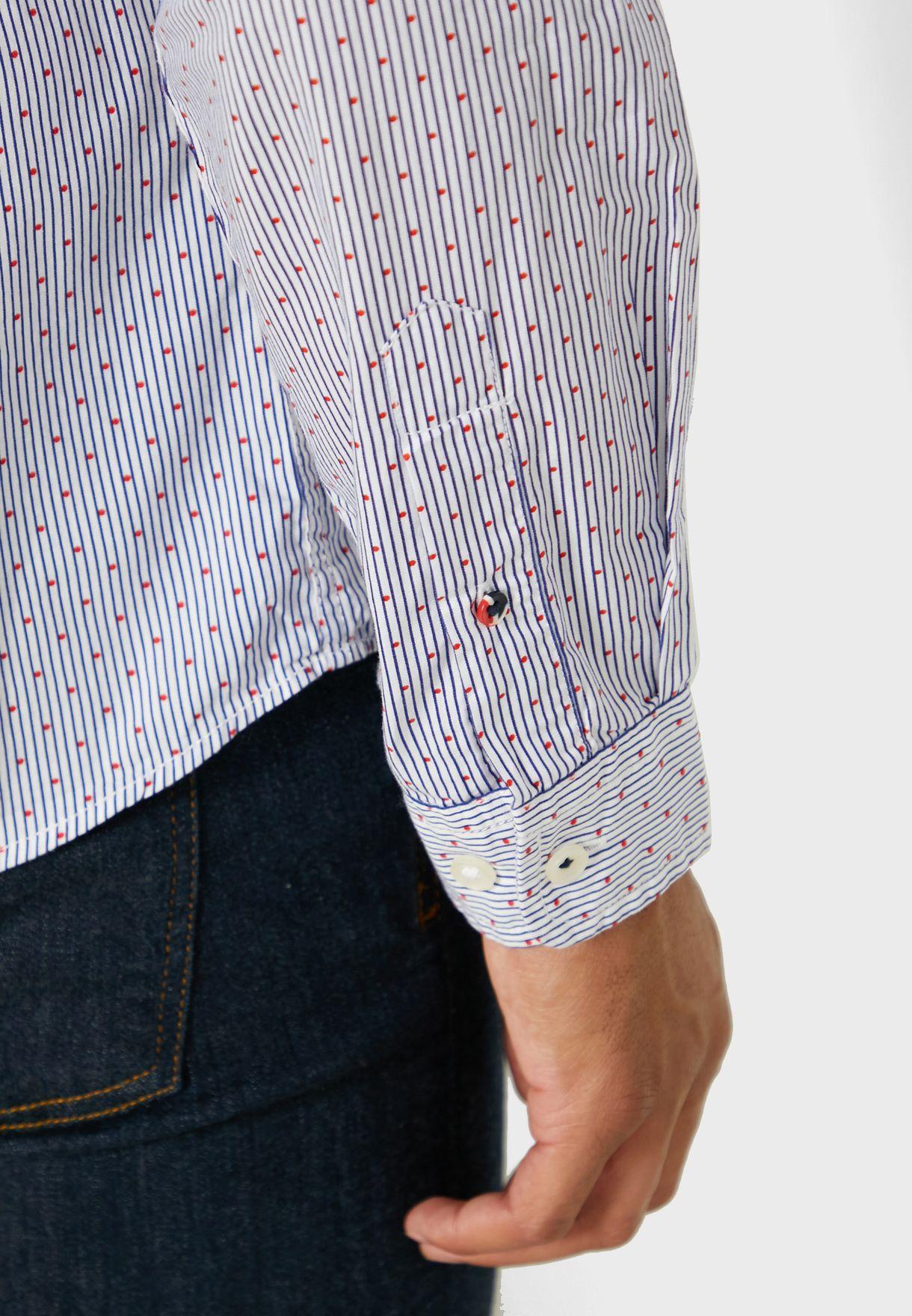 Dylan Printed Slim Fit Shirt