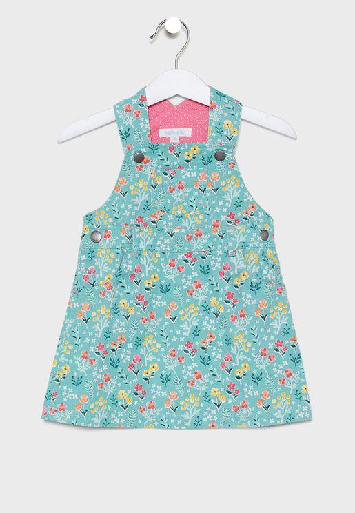 فستان اطفال بطبعات ازهار