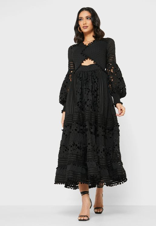 Cut-out Lace Dress