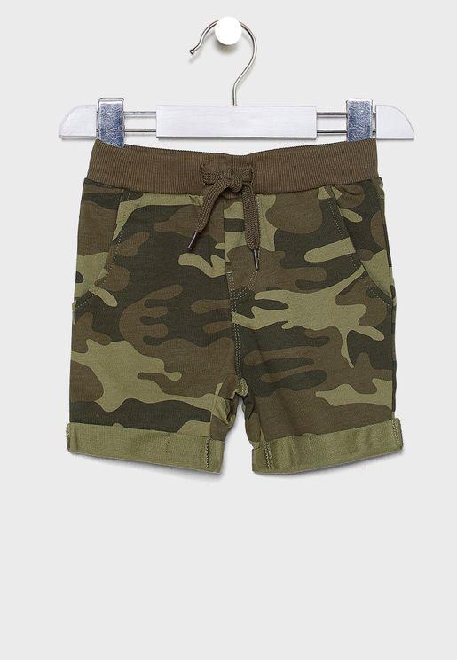 Kids Camio Print Shorts