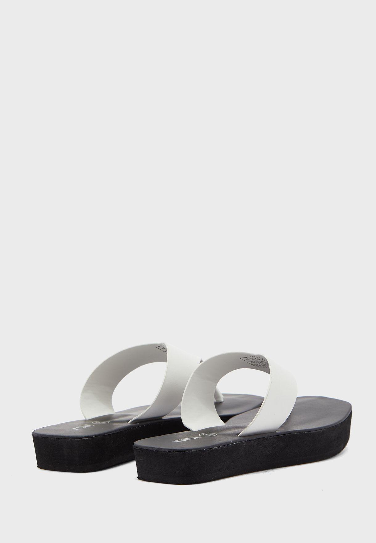 Wide Strap Flip Flop