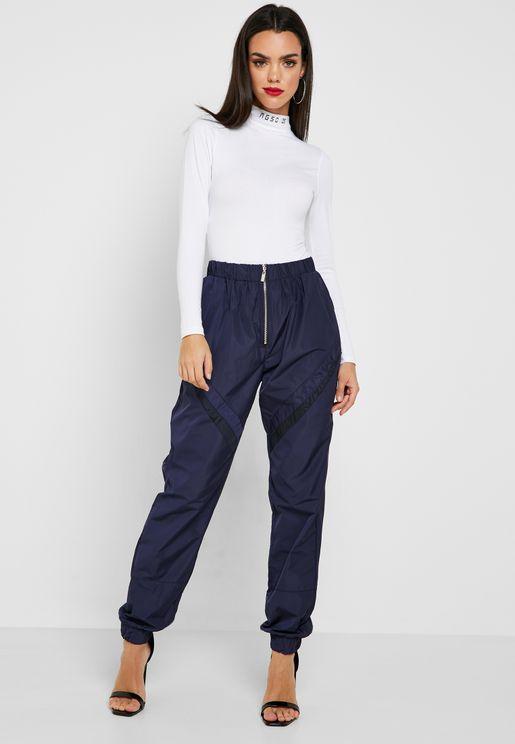 Shell Suit Zip Front Pants