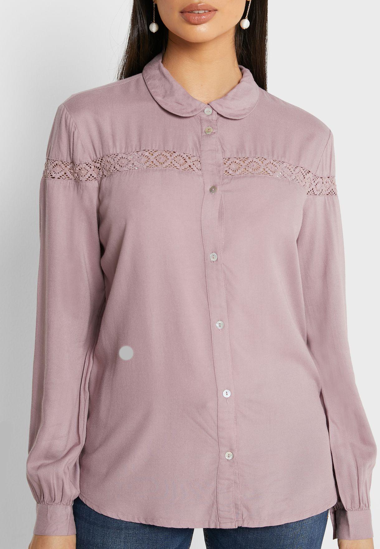 Lace Insert Shirt