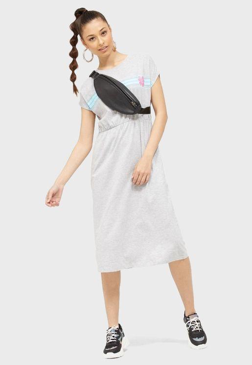 Ruched Waist T-Shirt Dress