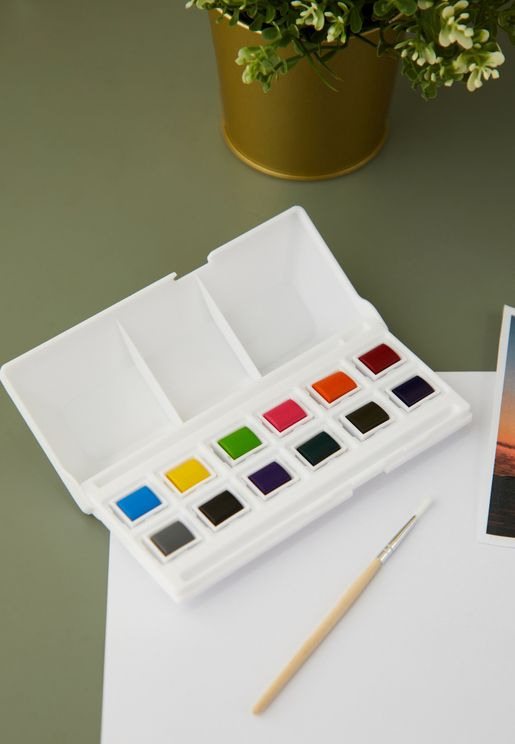 12 Pack Water Colours Paint Set