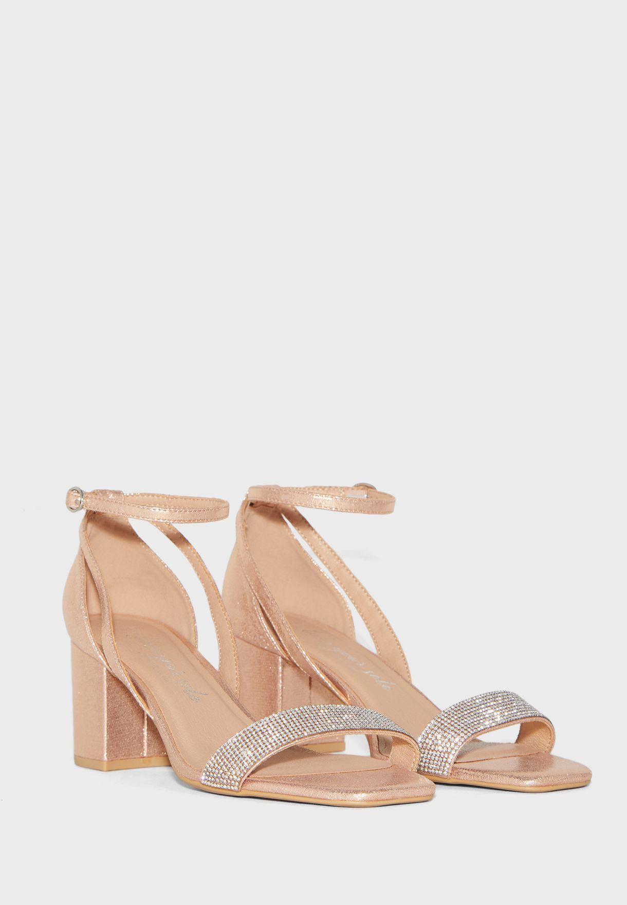 Wide Fit Tibby Block Heel Sandal