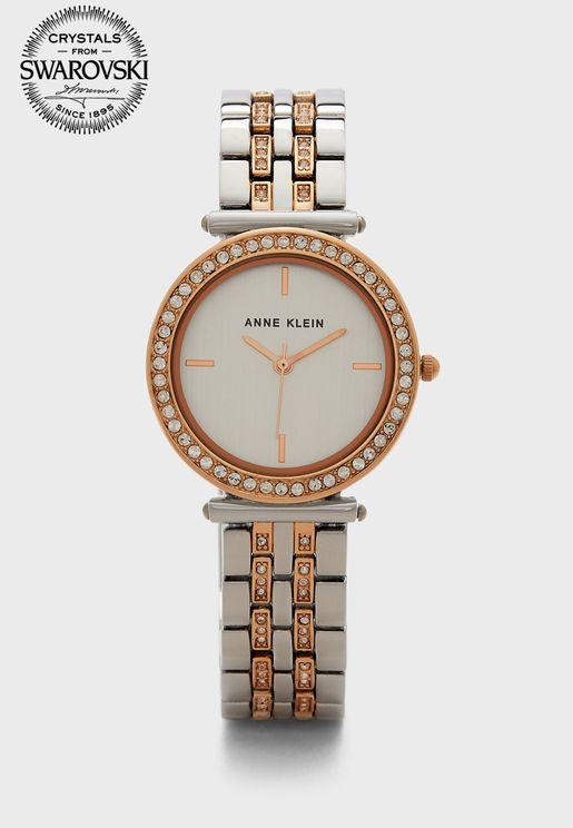 Two Tone Steel Strap Watch