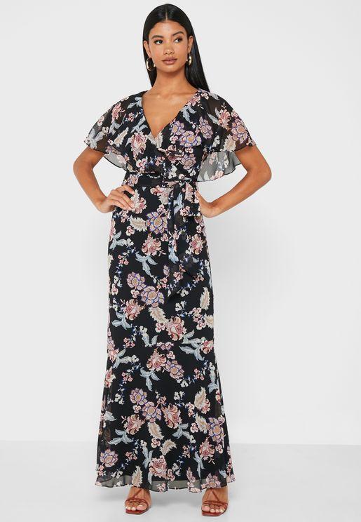 Darrina Floral Print Dress