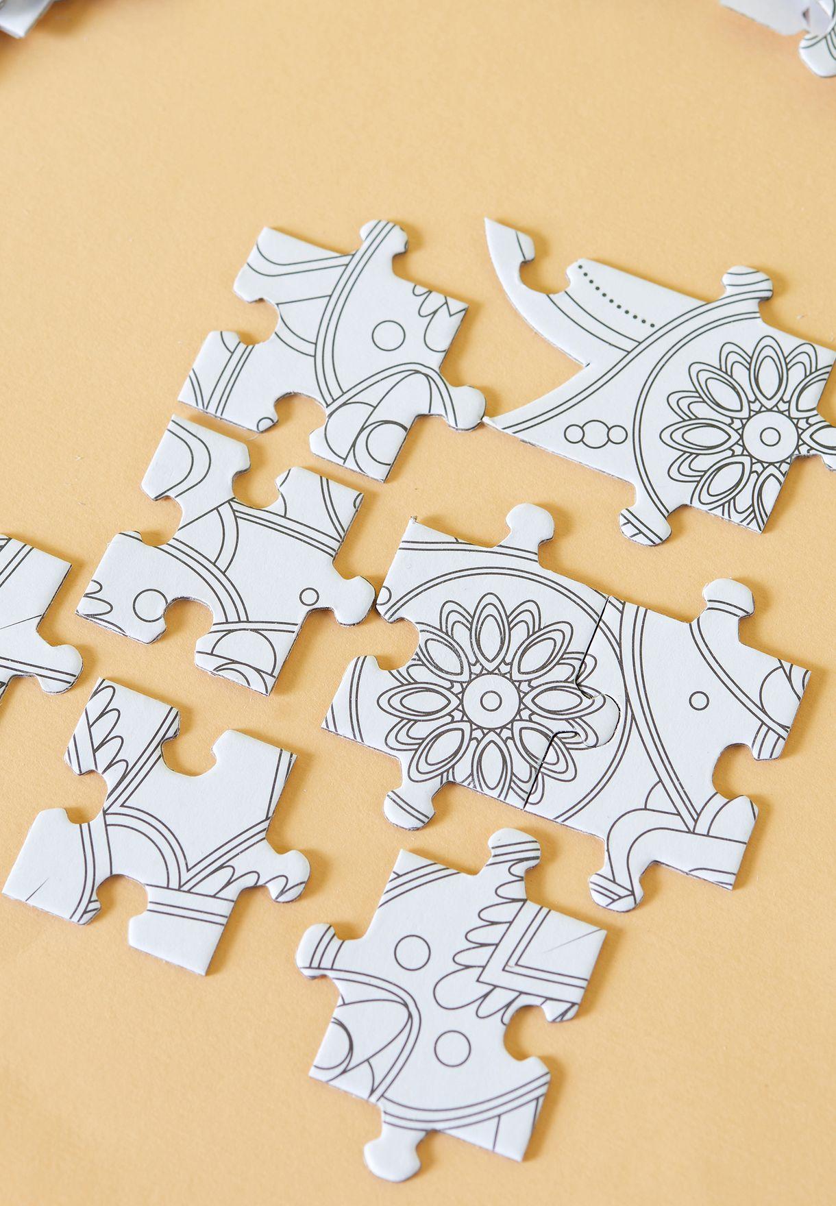 Colour In Mandala Puzzle