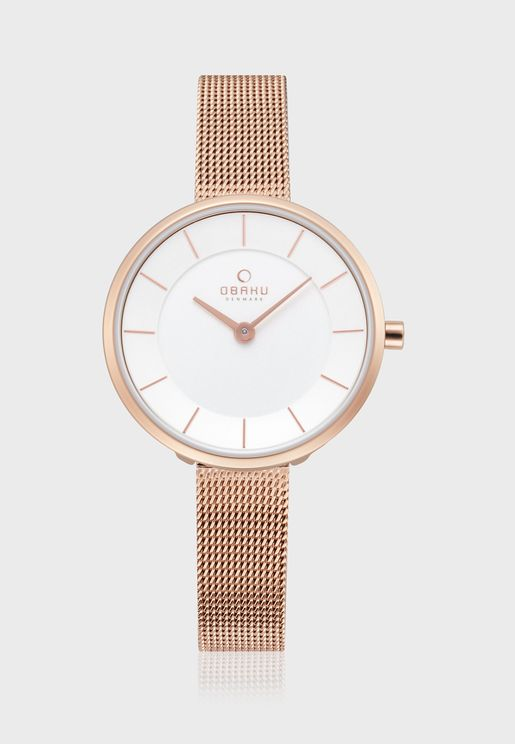 Merian Mesh Strap Analog Watch