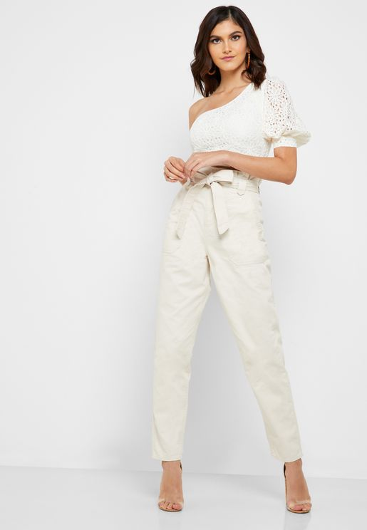 Paperbag Waist Tapered Pants
