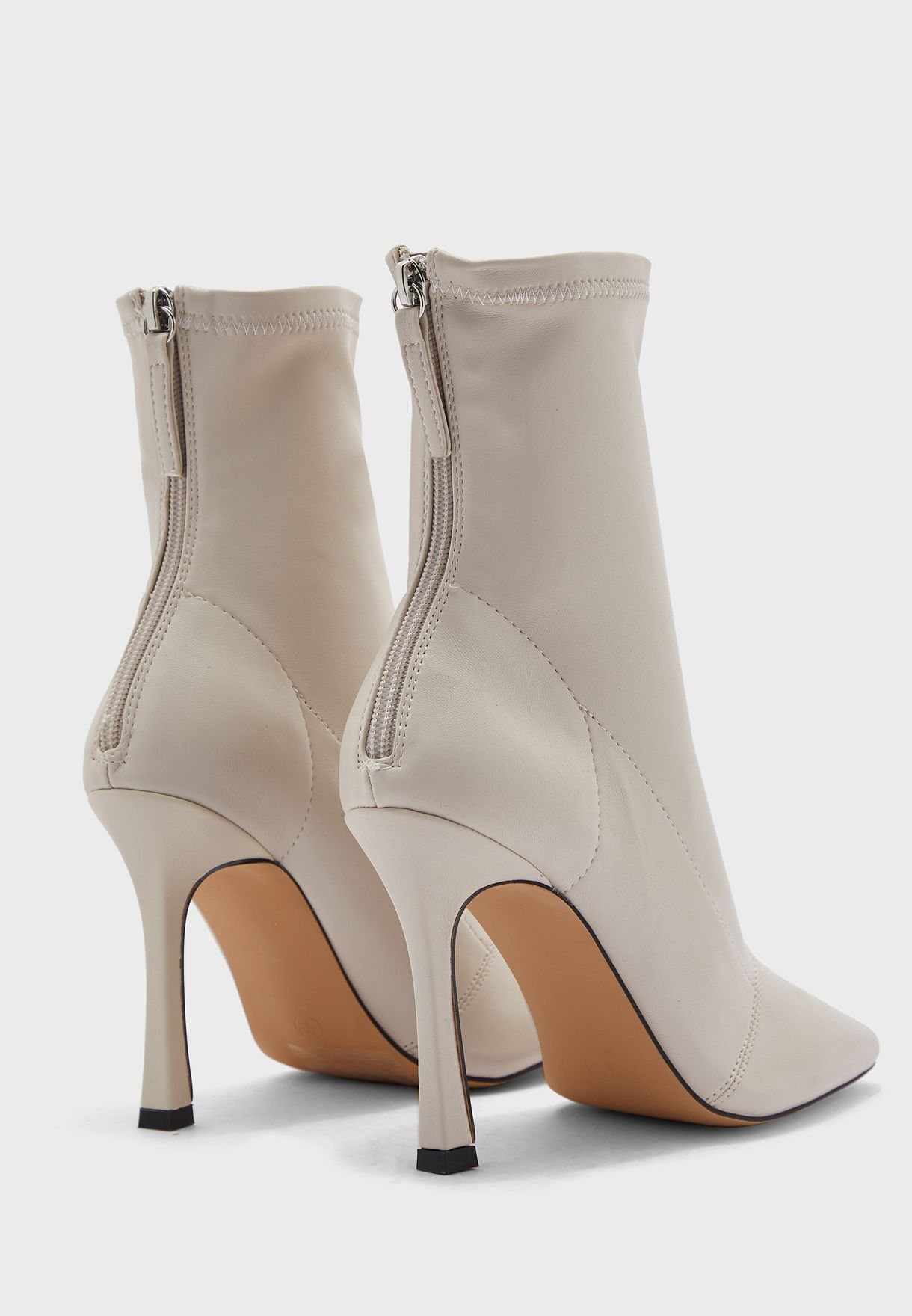 Casual Mid Heel Ankle Boot