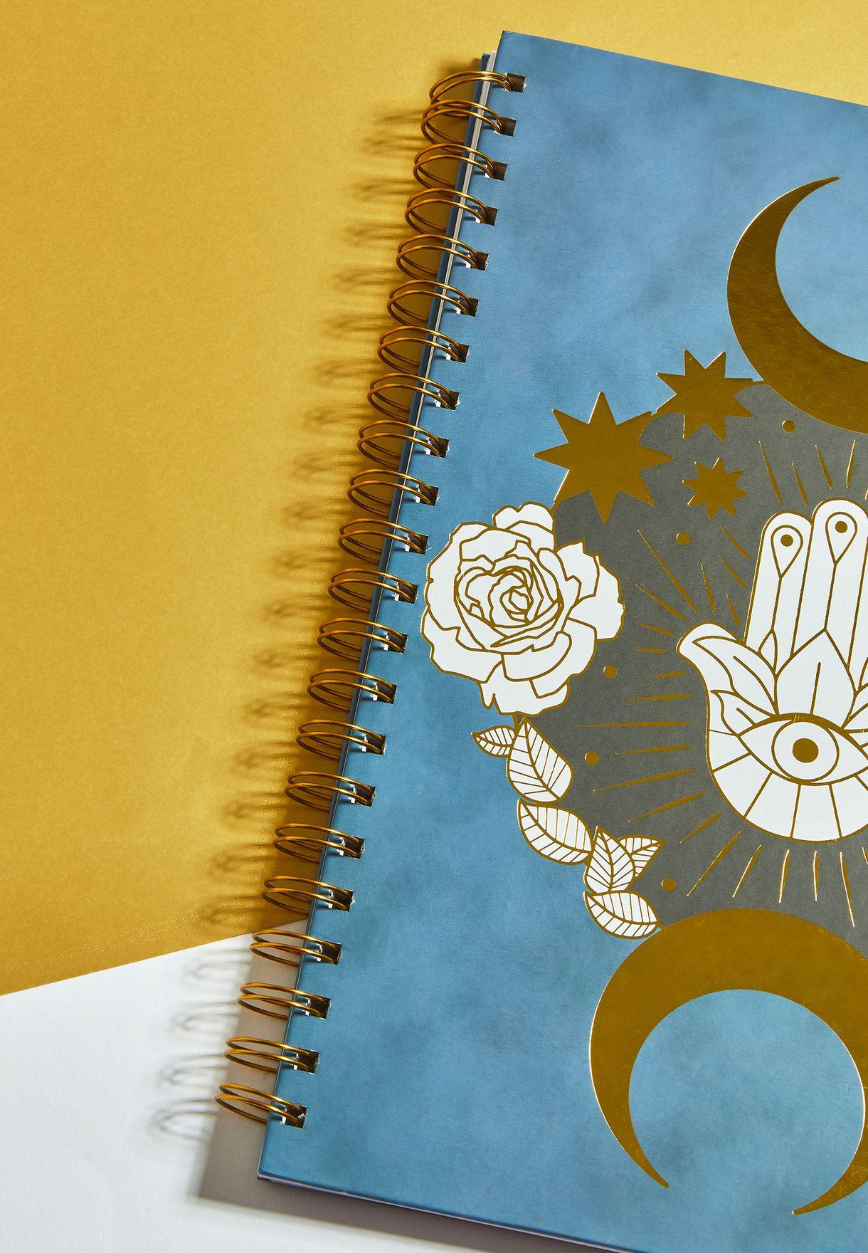 دفتر محاضرات بطبعة كف الخمسة