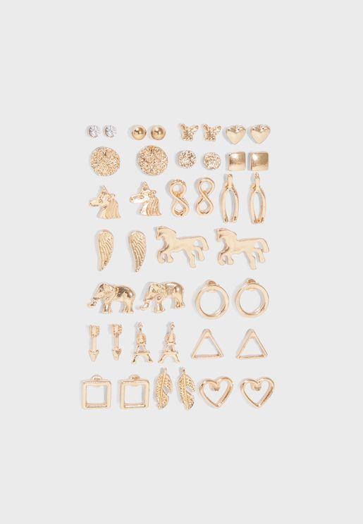 Multipack Stud Earrings Set