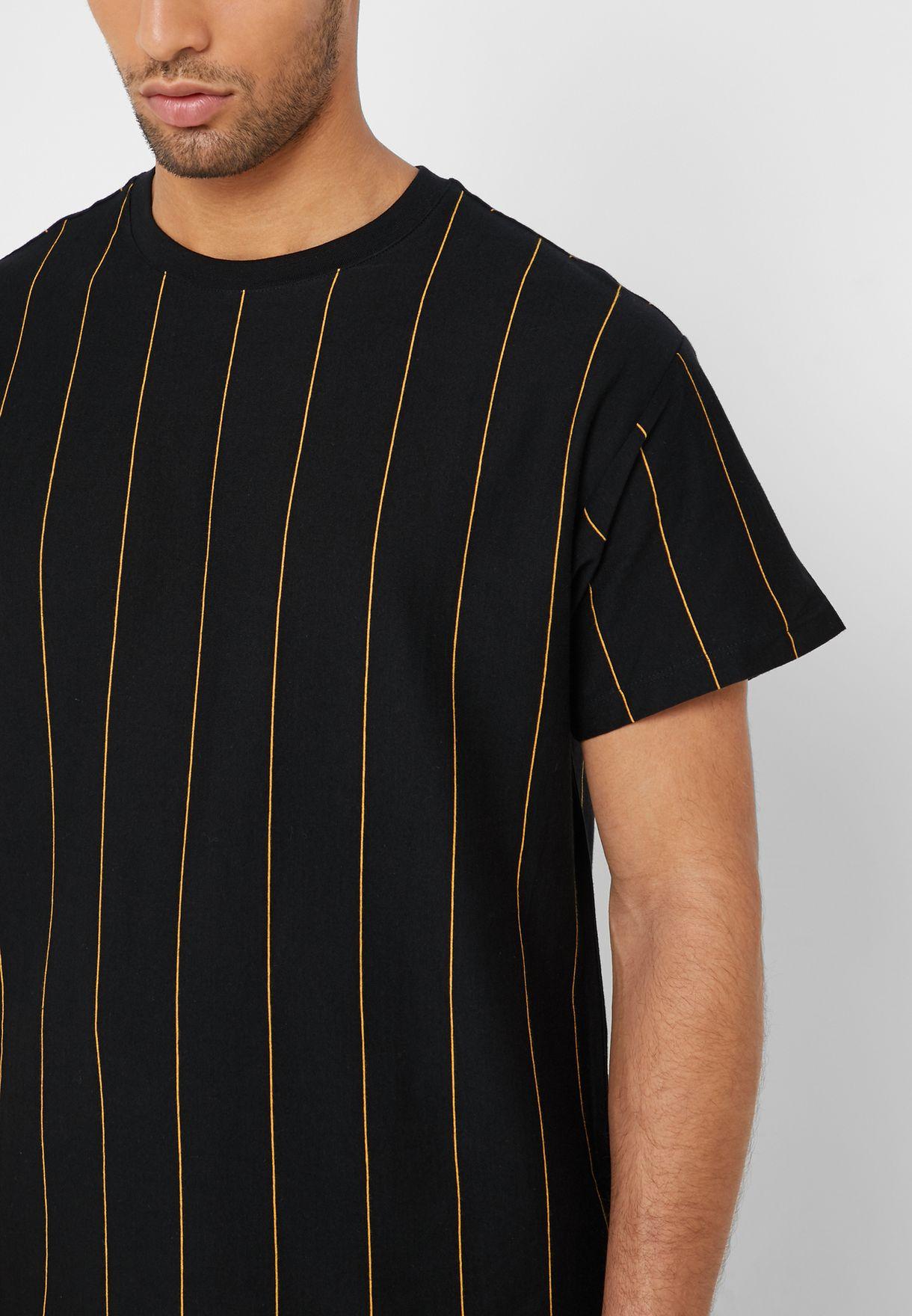 Pea Striped Crew Neck T-Shirt