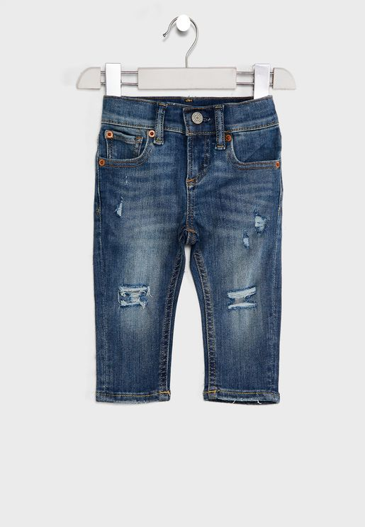 Infant Distressed Skinny Fit Jeans
