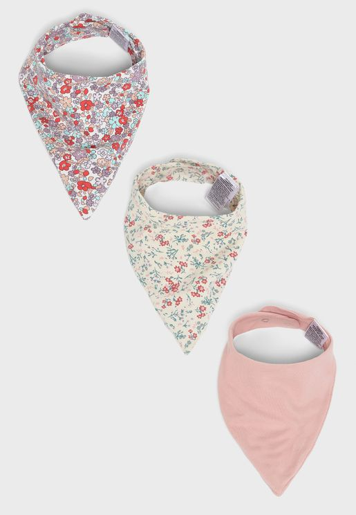 Kids 3 Pack Floral Bib