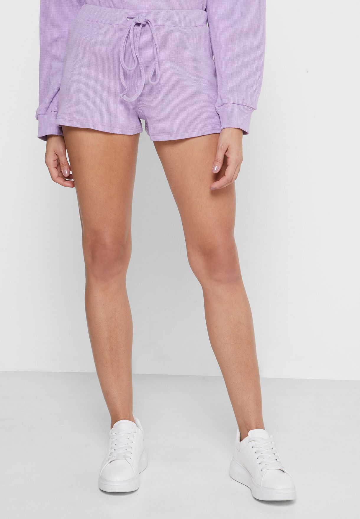 Knitted Sweater & Shorts Set