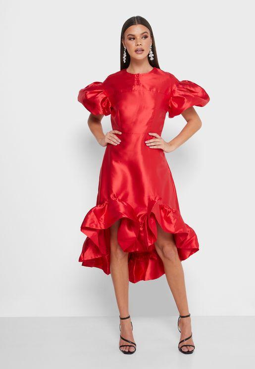 فستان سكاتر بكشكش