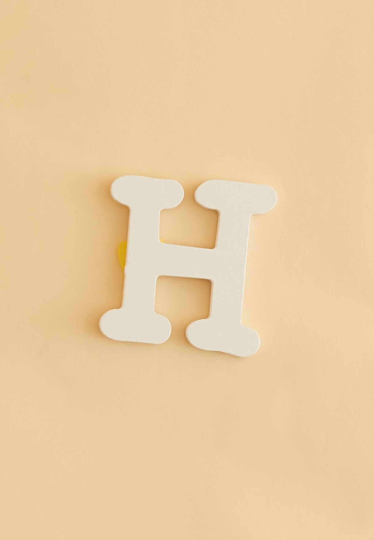 Initial H Wooden Letter