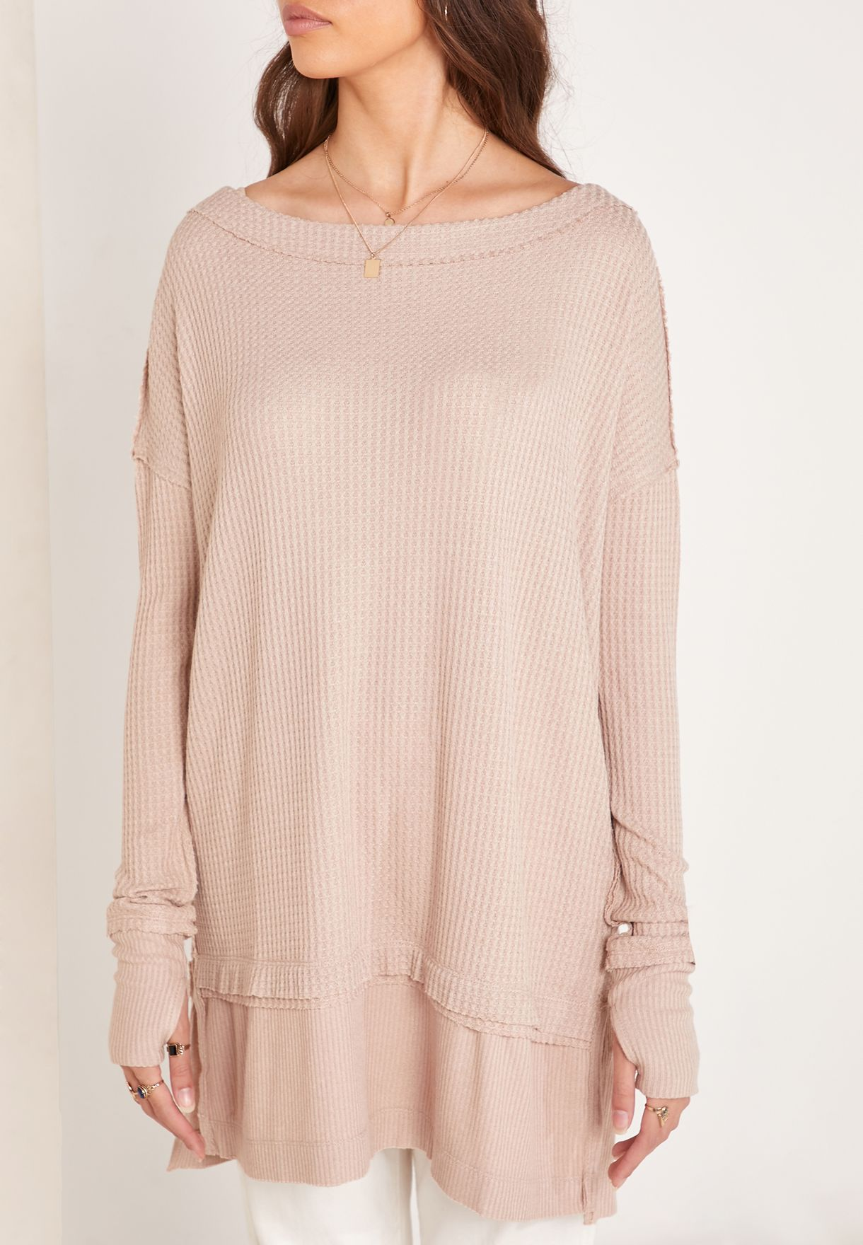 North Shore Side Split Ribbed Sweater