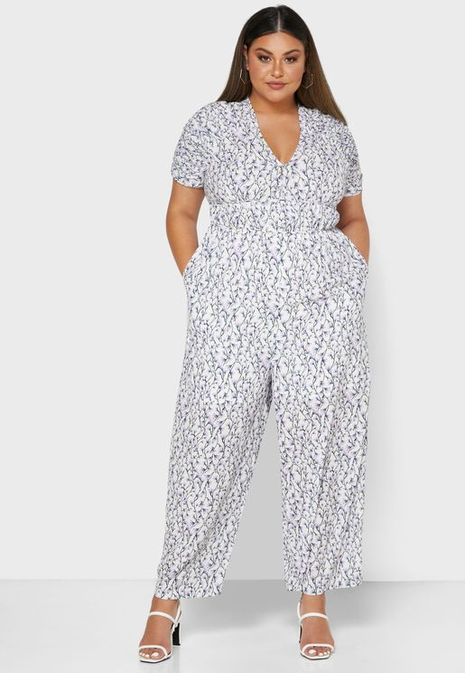 Wide Leg Printed Jumpsuit